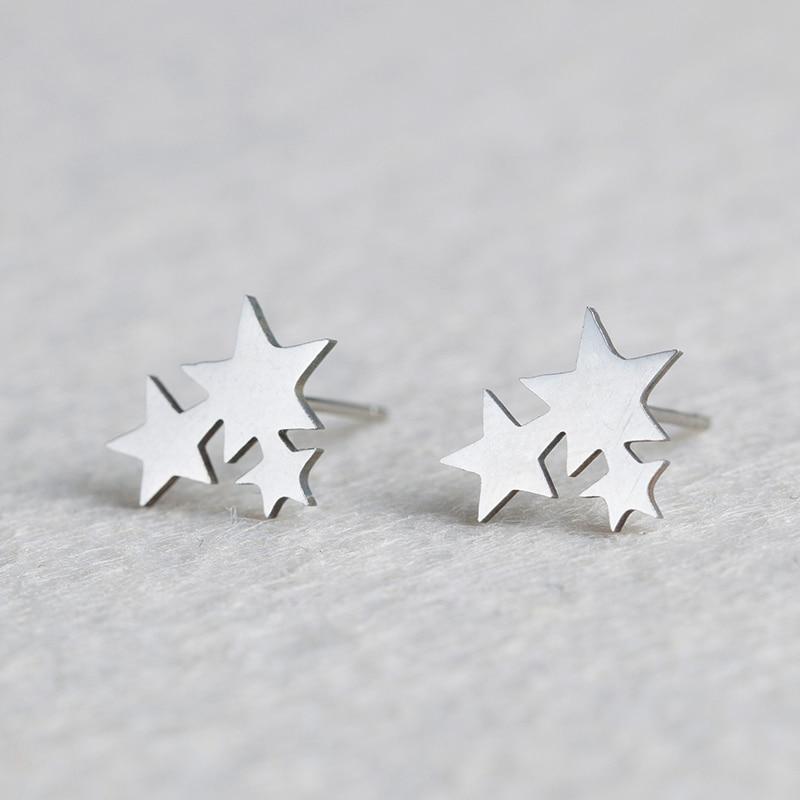 Модные женские серьги-гвоздики с золотой звездой из нержавеющей стали, милые мини-серьги-гвоздики для девочек, минималистичные ювелирные и...