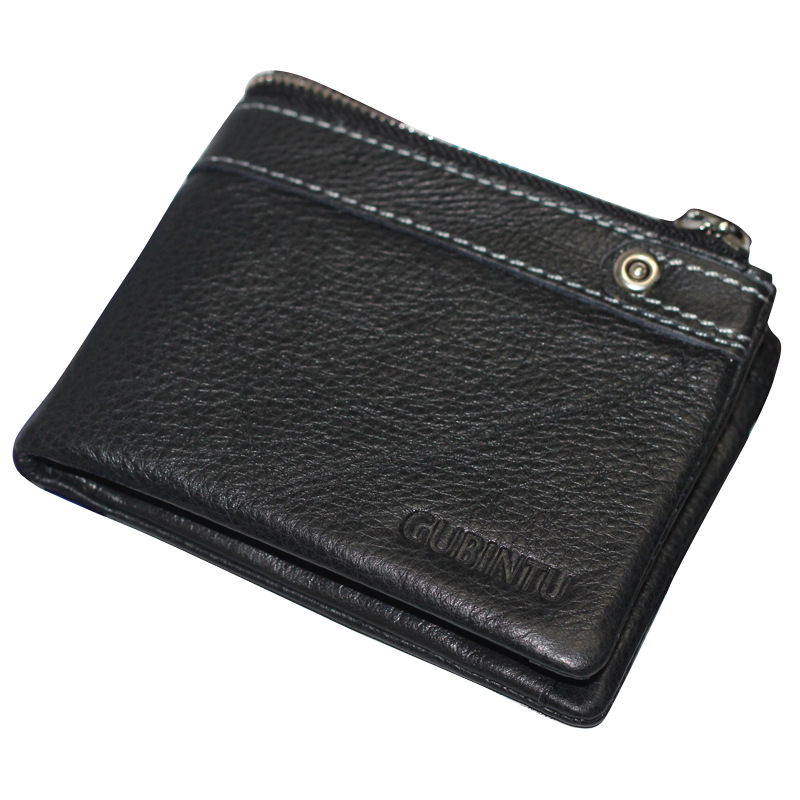 MAIFEINI New Arrival Genuine Leather Bifold Short Wallet Men Cow Leather Card Holder Coin Purse Clutch Money Bag man clutch wallet card leather bag pockets bifold money clip black blue