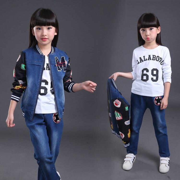 e446f5fac Venta caliente 2/3 piezas niños Denim chaqueta y pantalones trajes de  estilo coreano otoño chico niños ropa de otoño conjunto de 3 a 10 12 años  en Sistemas ...