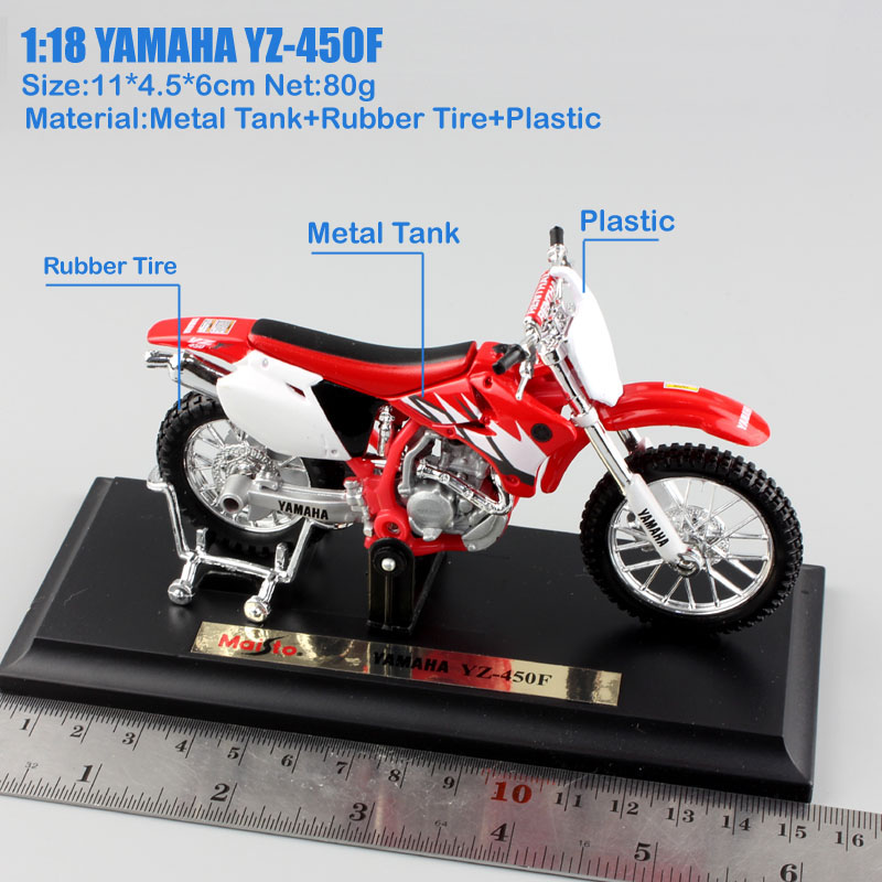 1 18 scale maisto YAMAHA YZ450F YZ 450F motorcycle MX Motocross dirt metal Diecast bike race model vehicles Toy for boy replica in Diecasts Toy Vehicles from Toys Hobbies