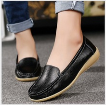 sale top women genuine leather flat shoe mom shoes nurse shoes white non-slip work comfortable pregnant women shoes