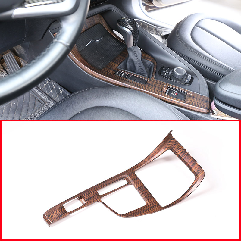 Pine Wood Grain For BMW X1 F48 2016 2018 For BMW X2 F47 2018 Center Console