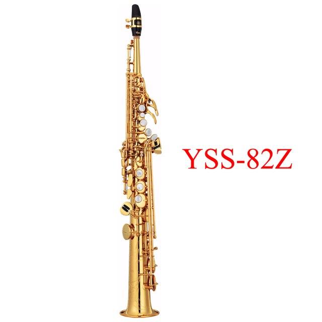 Профессиональный Сопрано Саксофон YSS-82Z Прямо Саксофон си-Бемоль Топ Музыкальные Инструменты dhl/ups Бесплатная Доставка Высокий Класс Игры