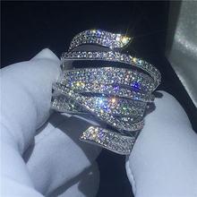 Роскошное большое кольцо из стерлингового серебра 925 пробы
