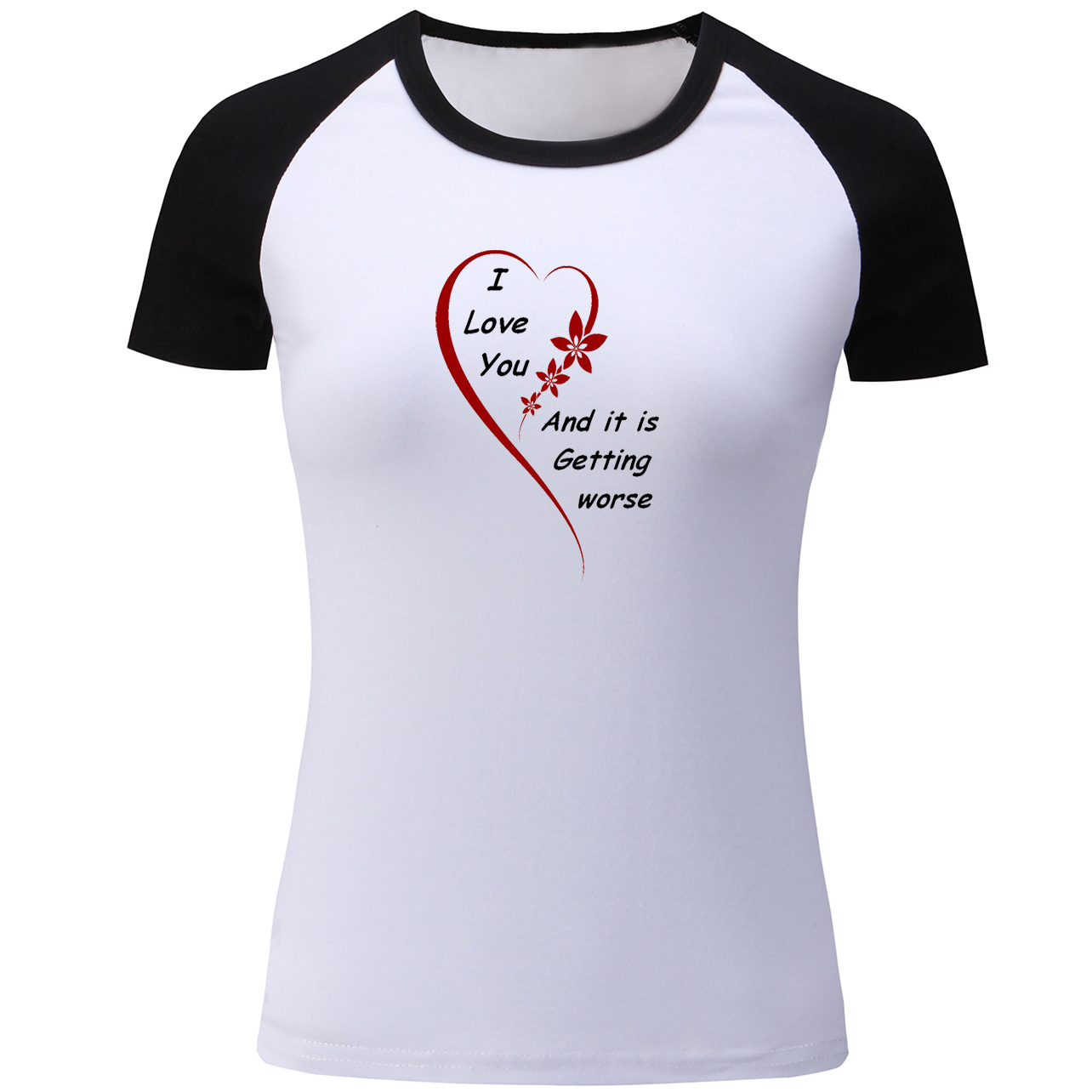 new release matching in colour hottest sale US $9.17 46% OFF|I Love You Love Quotes T Shirt Women Belive There is Good  in the Word Be The Good Tshirt for Lady Music Symbol Girl's T shirt-in ...