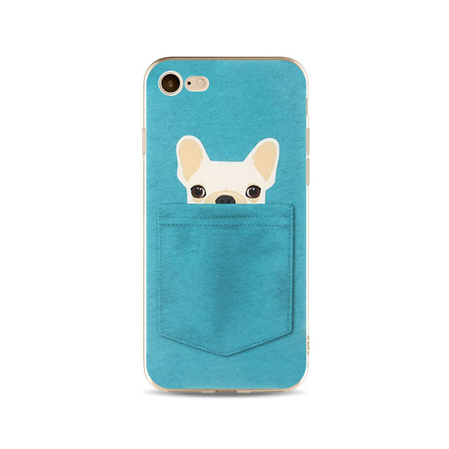 For iPhone 4/5/6/6s/6 plus/6s plus/7/7 plus/8/8 plus/X Painted Phone Case Protector Dog Pattern Protector TPU Soft Shell