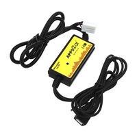 Car MP3 Audio Interface CD Adapter SD AUX USB Data Cable Adapter Connect Virtual CD Changer