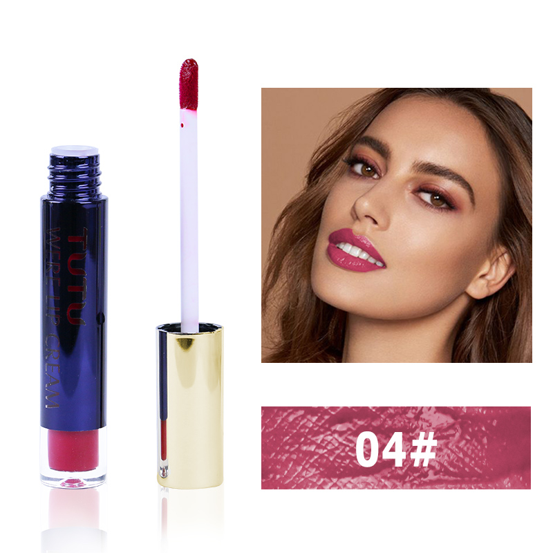 Professional Lip Makeup Matte Lip Gloss Velvet Red Lipstick Liquid Tint Waterproof Moisturizer Full Color Lip Gloss Set Make up 3