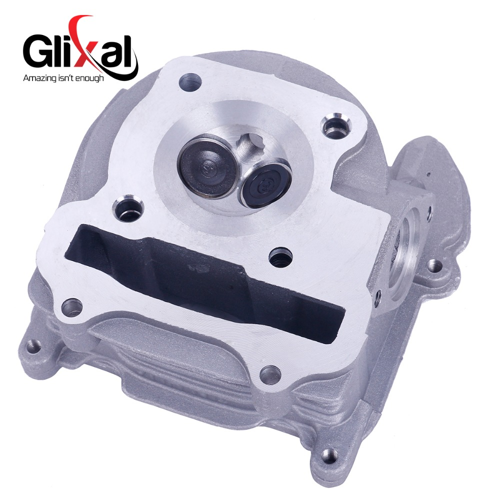 Glixal GY6 72cc 80cc Chinese Scooter Engine 47mm Cylinder Head Assy 139QMB 139QMA Roketa Qingqi ZNEN Moped ATV (64mm valve) new set 47mm big bore kit cylinder piston rings fit for gy6 50cc to 80cc 4 stroke scooter moped atv with 139qmb 139qma engine