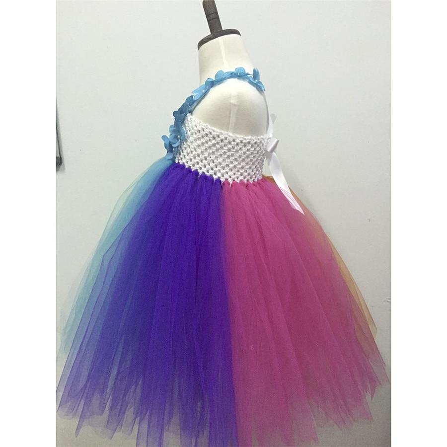 Niñas Kids party vestido del tutú del arco iris hecho a mano tulle ...