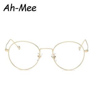 50f99eac484 Ah-mee Glasses Frames Round Metal Myopia Eyeglasses Optical