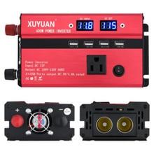 Xuyuan инвертор 12 v до 110 v on-инвертор для платы 600 w с дисплеем экранный преобразователь
