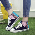 Hot Design Flats Spring Autumn Colorful High Canvas Shoes Female Shoes Casual Flat Woman Shoes Leopard Lady Footwear