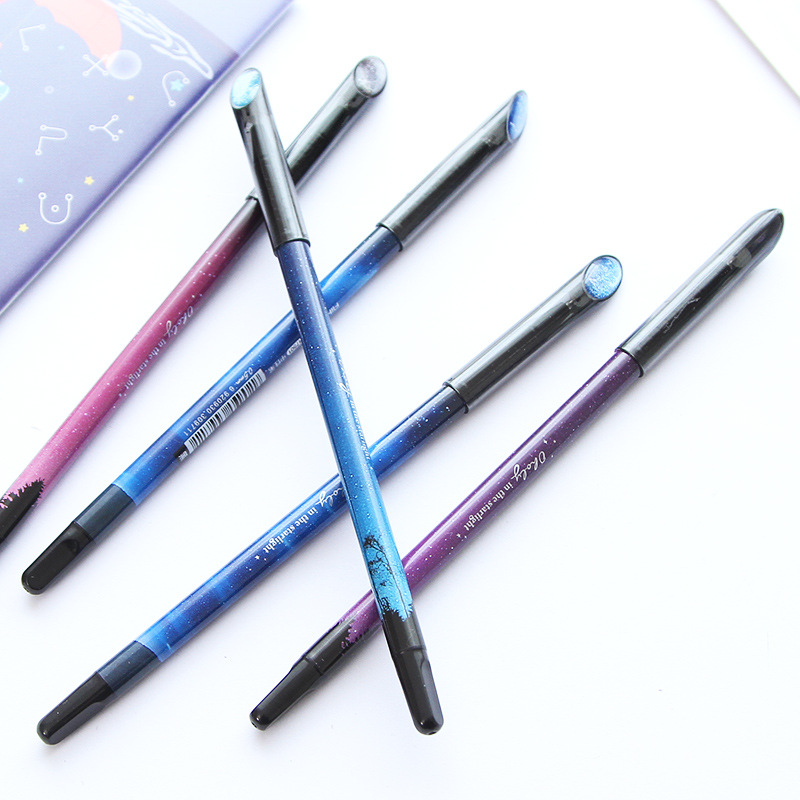 Star Sign 1pc Gel Pen 12 Constellations Drawing Writing Pen 0.5mm Black Ink Beautiful Stationery Gift Office Supplies