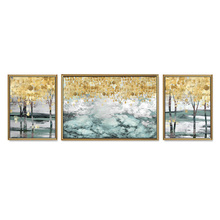 TOP SALE 3 Pieces/Set Classic abstract rich tree Canvas Painting Sitting Room Decoration Print Pictures (No Framed)