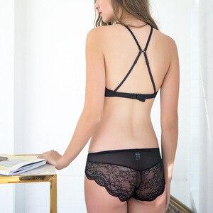 Image 3 - TERMEZY مثير الدانتيل الملابس الداخلية كوب كامل Bralette البرازيلي مجموعات موجز فيكتوريا داخلية رقيقة كوب براسيير ملابس داخلية أنيقة للنساء