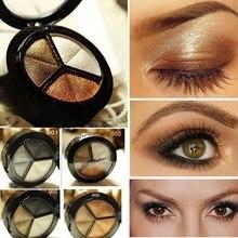 Smoky Eyeshadow Pallet Makeup 3 Colors Natural Matte Eye Sha
