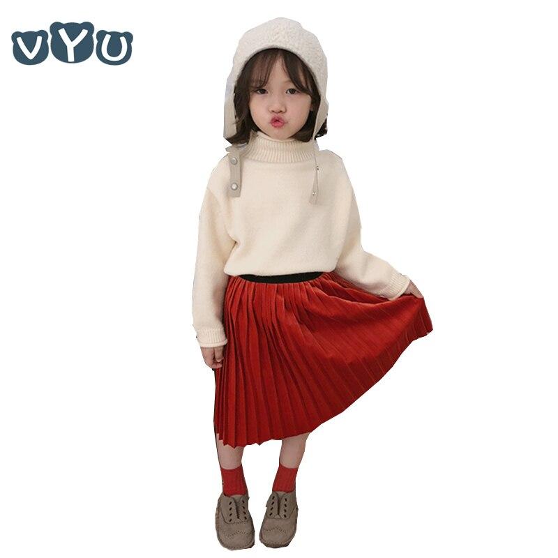 Besorgt 2018 Neue Winter Kinder Jungen Mädchen Pullover Einfarbig Rollkragen Verdicken Kinder Stricken Pullover Mädchen Warme Strickjacke Tops