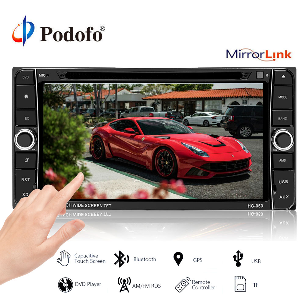 podofo 2 din android car radio multimedia player dvd gps. Black Bedroom Furniture Sets. Home Design Ideas
