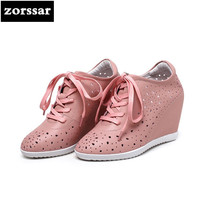 {Zorssar} summer Women sneakers Shoes breathable 2018 New Womens Wedges Height Increasing Casual shoes Ladies High heels pumps