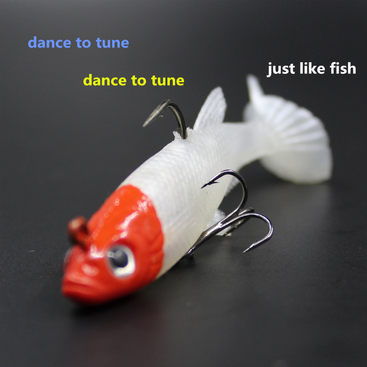 2pcs of Bionic Soft Bait Fishing Lure Artificial Bait Wobbler Accessories Red Head Fake Lures Fish Pesca Fishing Tackle Hooks fish like 30pcs lot fishing soft lure pesca simulate artificial lures kit bait with hooks mix colors