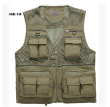 2014 Summer Men's Multi-Pocket Vest Photography Waistcoat Men Sleeveless Jacket Free Shipping Q746