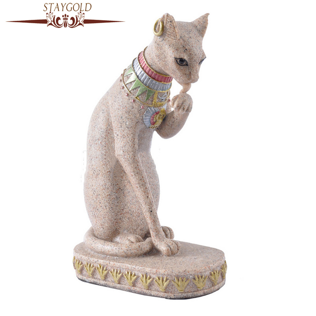 STAYGOLD Vintage Home Decor Egyptian Cat Crafts Gifts Home ...