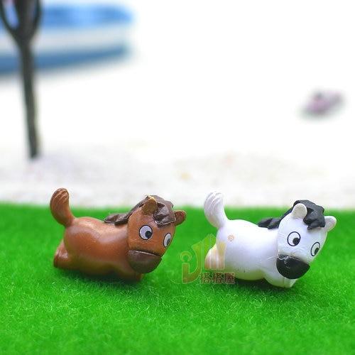 20pcs/lot new arrival kawaii mini solid horse 22*15mm Resin kawaii crafts DIY dollhouse christmas Jewelry Making Findings