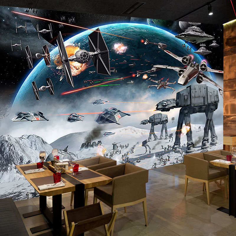 06d500b056dbb4 Custom 3D Foto Behang Cartoon Star Wars Kinderkamer Slaapkamer Muur  Schilderen Woonkamer Muurschildering Behang Voor Kinderkamer in Custom 3D  Foto Behang ...