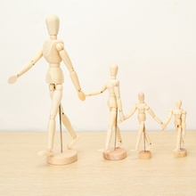 4.5/5.5/8/12 INCH Paint Sketch Wooden Man Model Artist Movable Limbs Doll Wooden Toy Art Draw Action Figure Mannequin Kids Toy