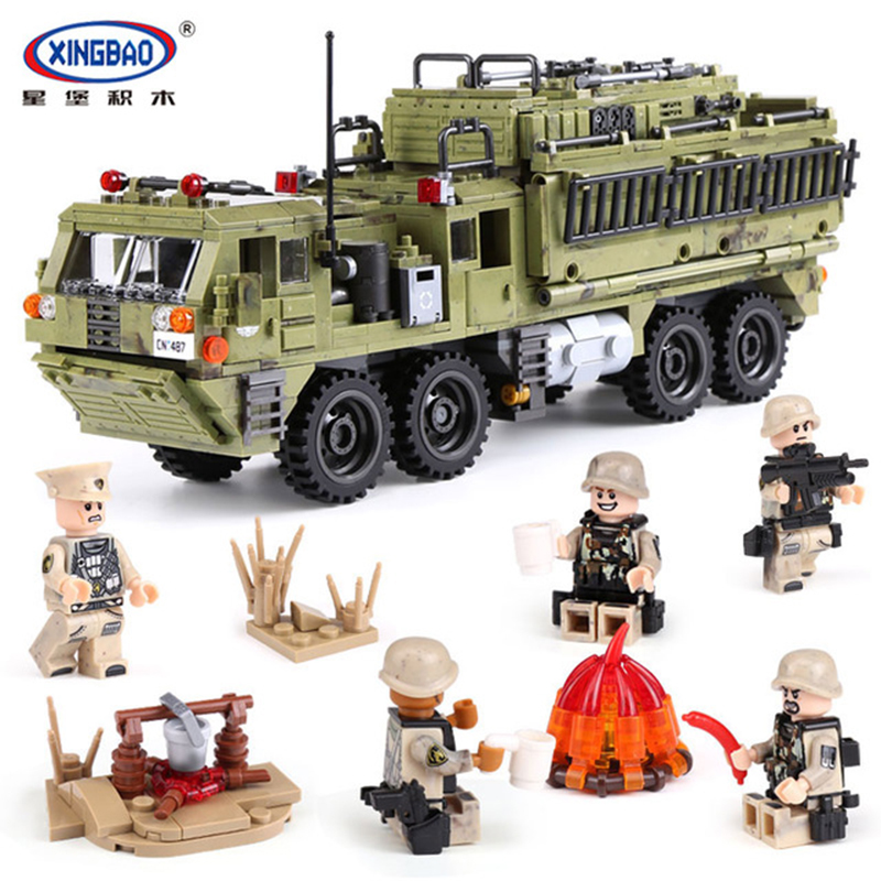 XINGBAO 1377PCS Military Army Series The Scorpion Heavy Truck Set Building Blocks With Action Figure Armored