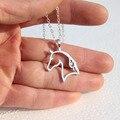 Horse Jewelry Pendant Necklace Zinc Alloy Horses Punk Necklace Jewelry Simple Necklaces