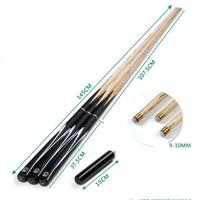 Cheap Standard 145cm billiard bar British snooker cue stick 9.5mm small head black eight British billiard cue pool cue