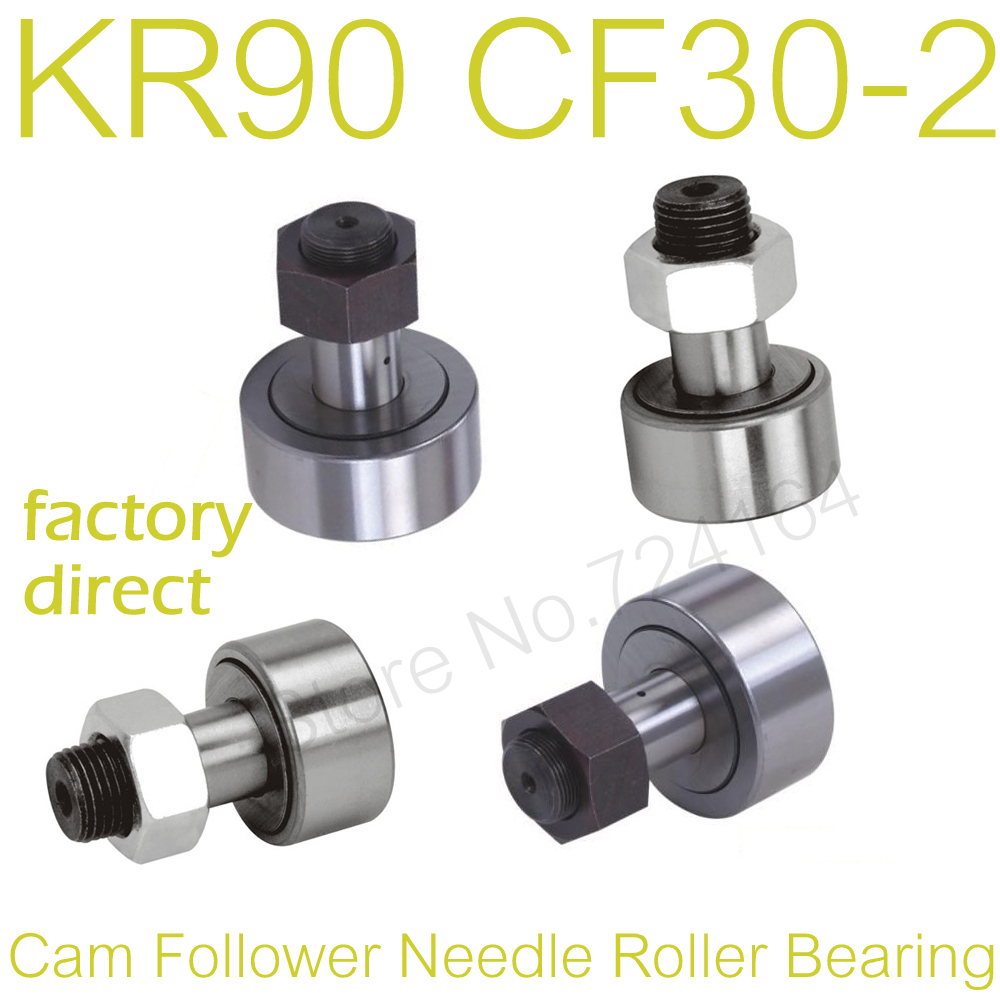 CF3 2.8mm Dia Thread Stud Type Cam Follower Curve Roller Bearing Silver Tone