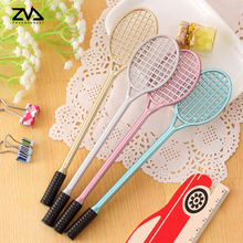 4 pcs/ lot Creative badminton racket neutral pen creative cartoon stationery kawaii school Office supplies  Papelaria Canetas