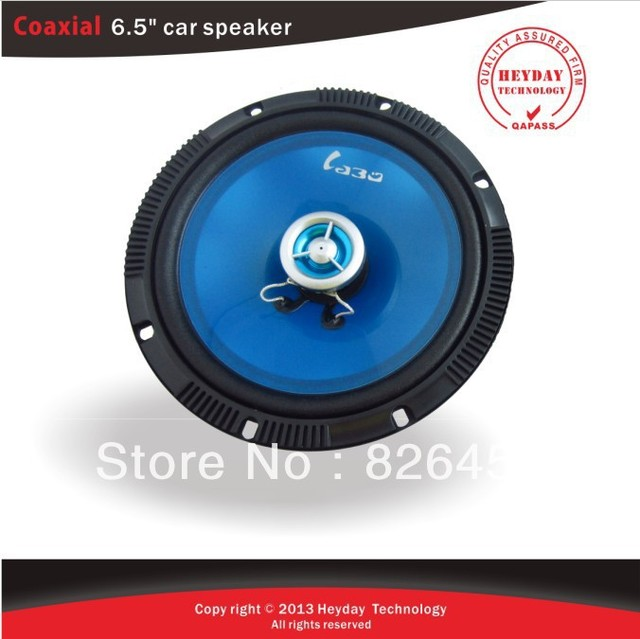 Transparent Blue press-up papar 6.5inch coaxial car speaker