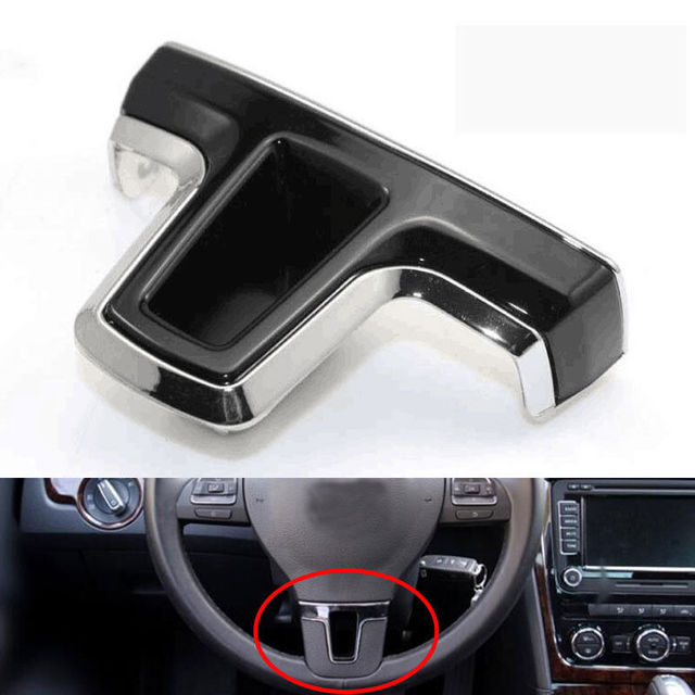 BBQ@FUKA Car Stainless Steering Wheel Insert Cover Trim Styling Fit for GOLF 6 MK6 Polo Bora 09-13