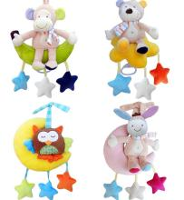 Lettino per bebè culla Soft animal Monkey bear owl askey Rattle Hand Bell Passeggino peluche precoce Giocattolo educativo scontato del 40%