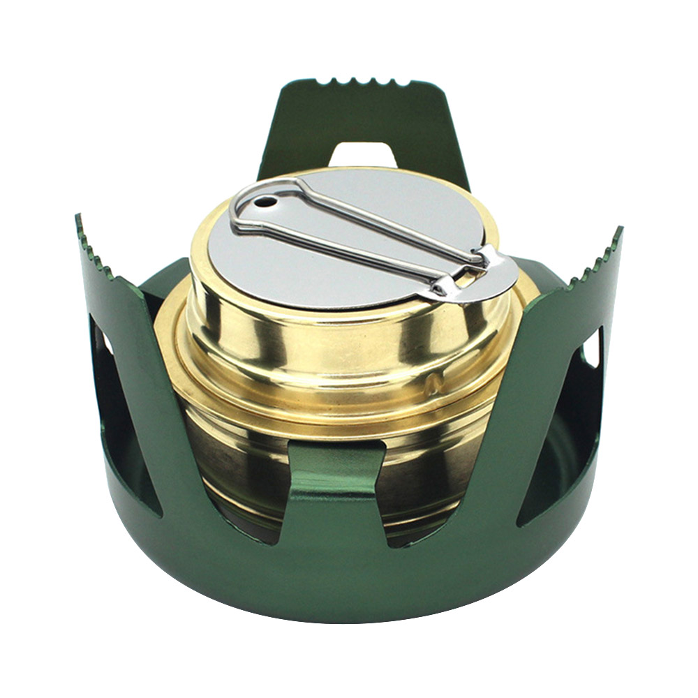 97mm*65mm Outdoor Portable Stainless steel  Mini Portable Hiking for Outdoor Camping BBQ Spirit Alcohol Stove