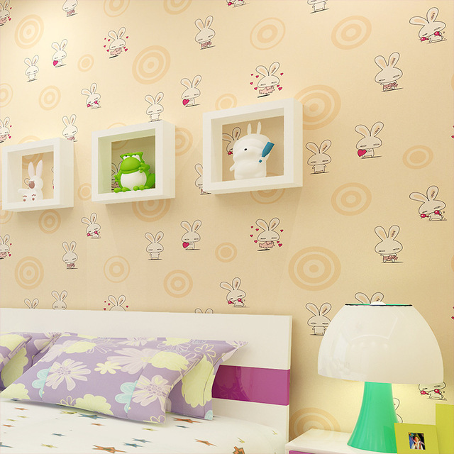 Beibehang for living room love rabbit wallpaper roll bedroom sofa tv backgroumd of wall paper roll