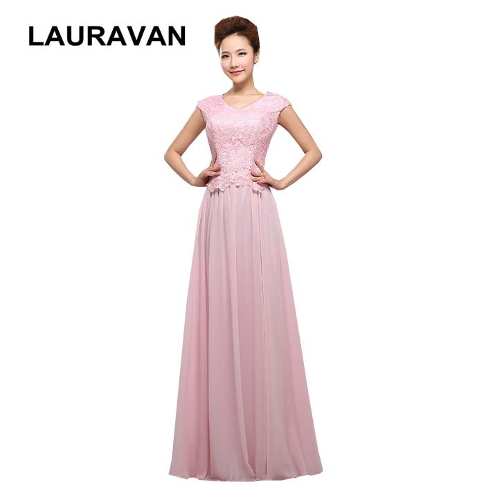 Pretty Chiffon Long Pink Bridesmaid Dress Unique Teen