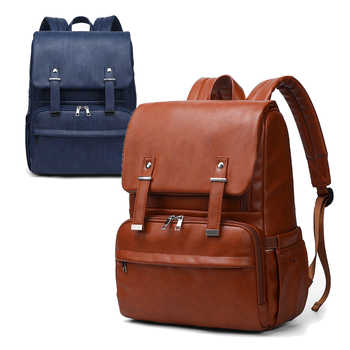 PU Leather Baby Diaper Bag Backpack+Changing Pad+Stroller Straps - DISCOUNT ITEM  33% OFF All Category