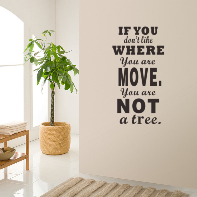 If You Dont Like Where You Are Move Vinyl Quote Wall Decal Home