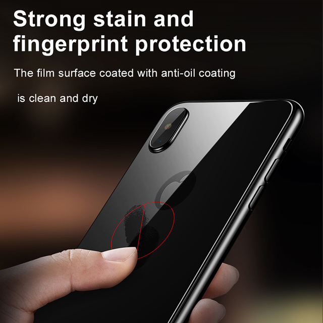 Baseus Back Screen Protector Tempered Glass For iPhone Xs Max XR Full Cover Rear Protection Toughened Glass Film For iPhoneXS 6