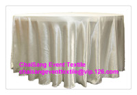 Factory Direct Sale 10pcs 150 Ivory 120 Round Satin Table Cloth Satin Table Cloth For Wedding