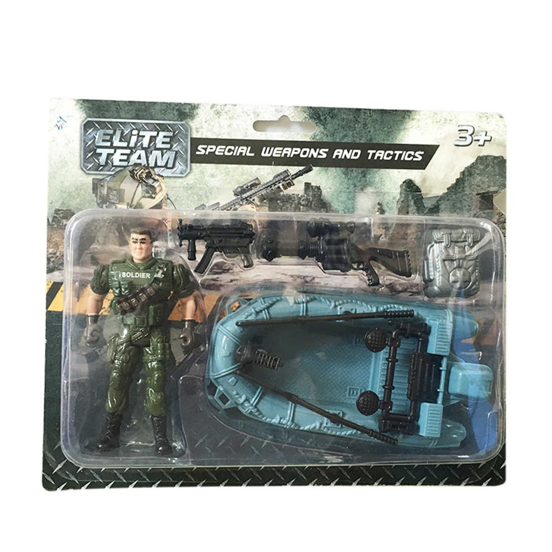 Joint Movable Special Forces Military Model Kit Simulation CS MINI Strong Soldier Little Army Man Toy Set Children Playing Kit