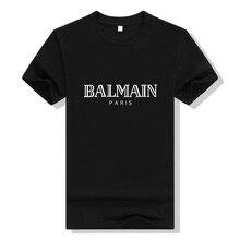 1c92180b17 BALMAIN T camisa de manga corta de los hombres 2019 nueva moda casual Camiseta  Hombre hip hop ropa de marca de hombres camisetas.