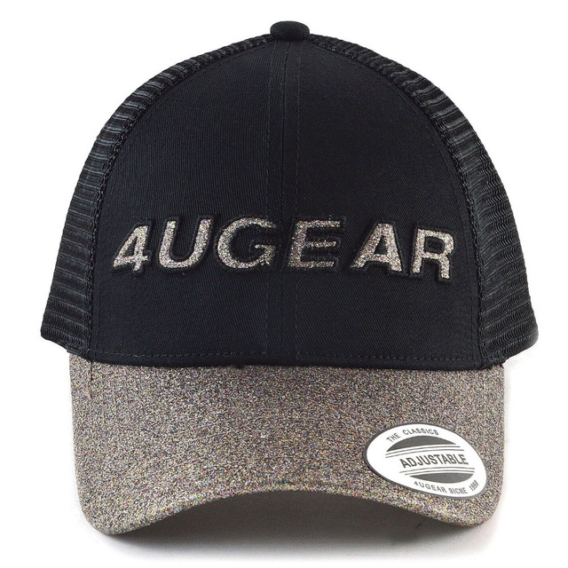 2018 New Glitter Baseball Cap Women Snapback Hat Summer Messy Bun Mesh Hats  Casual Adjustable Sport 985f725856d