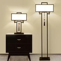 Retro Iron Chinese Style Floor Lamp Living Room Bedside Lamp Dining Room Lighting Decorative Floor Lights Kitchen Fixtures Avize