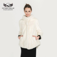 Fashion Women S Real Mink Fur Coats Thick Warm Customizable Winter Fur Jacket Outwear Parka For